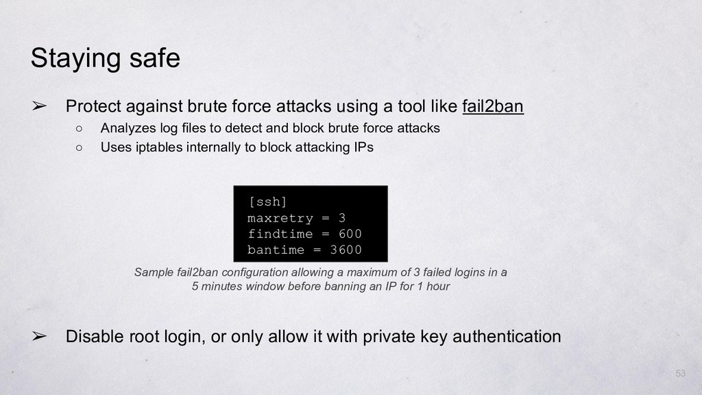 ➢ Protect against brute force attacks using a t...