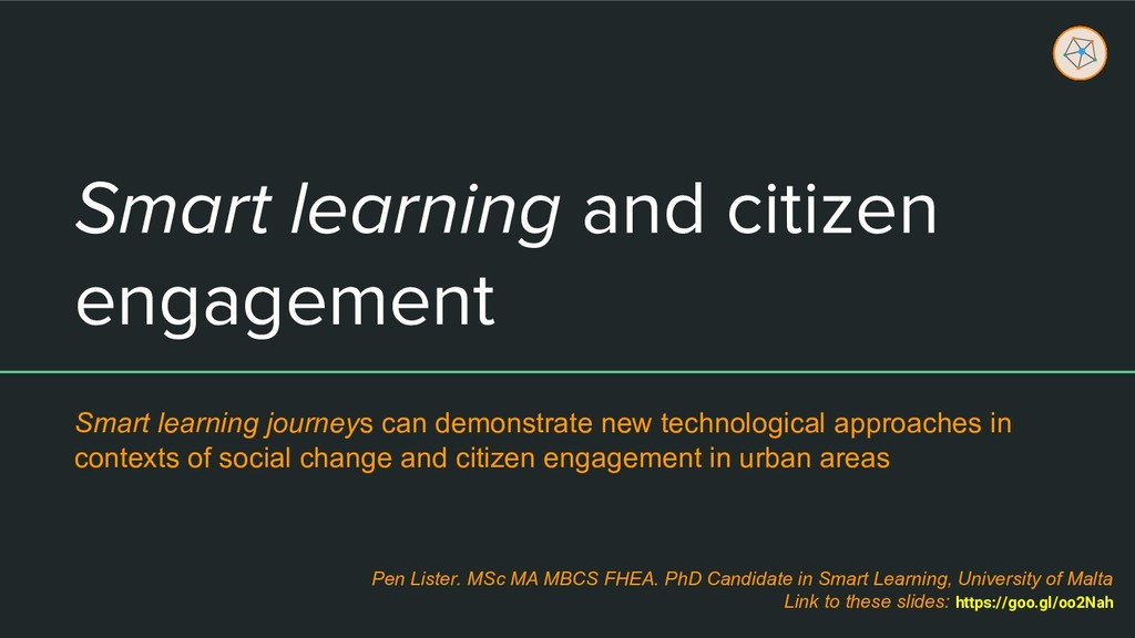 Smart learning and citizen engagement Smart lea...