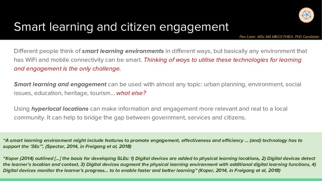 Smart learning and citizen engagement Different...