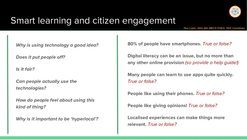 Smart learning and citizen engagement 80% of pe...