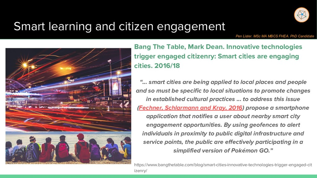 Smart learning and citizen engagement Bang The ...
