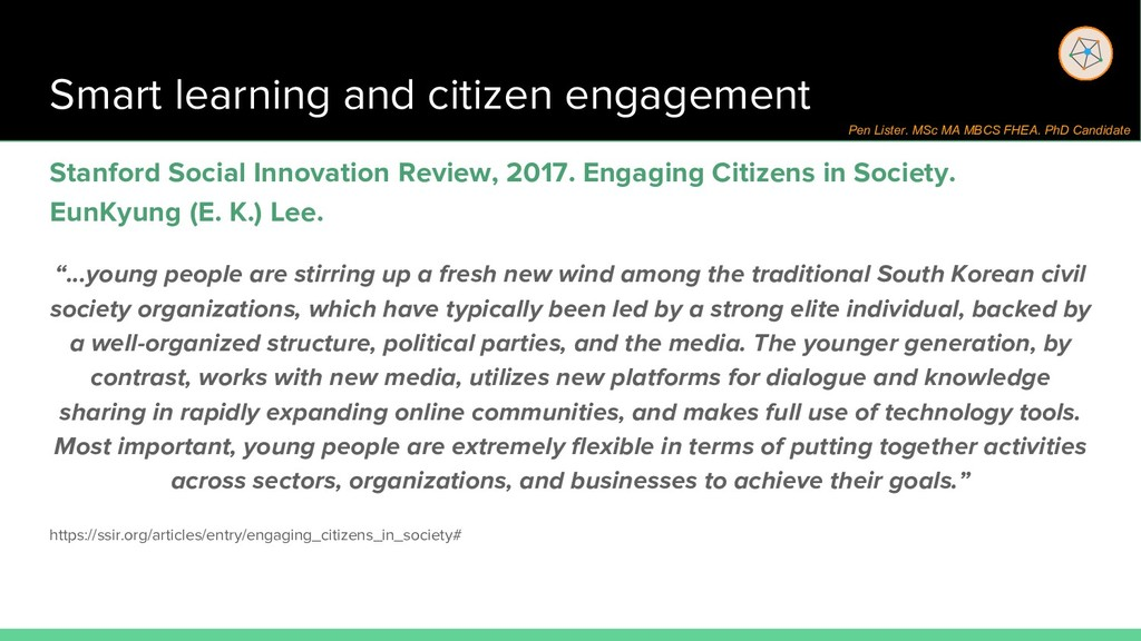 Smart learning and citizen engagement Stanford ...