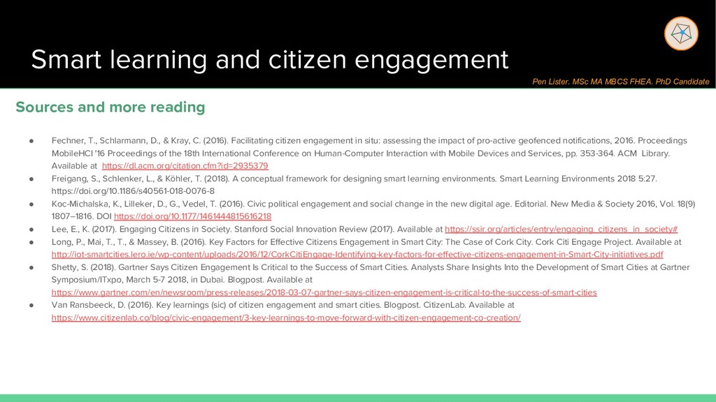 Smart learning and citizen engagement Sources a...