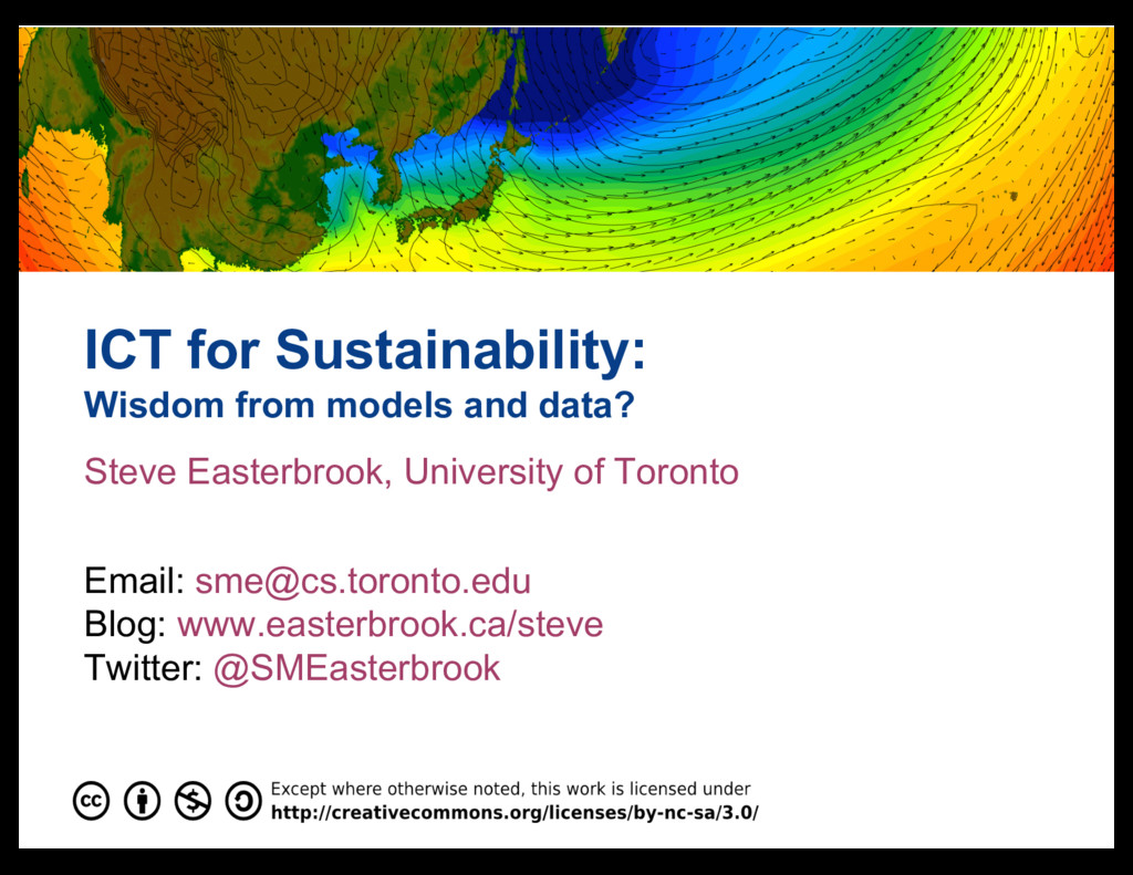 ICT for Sustainability: Wisdom from models and ...