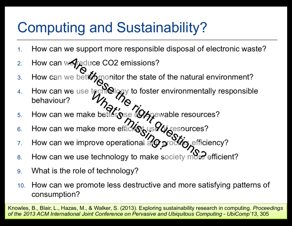 2 Computing and Sustainability? 1. How can we s...
