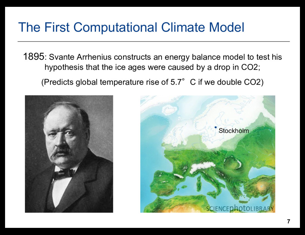 7 The First Computational Climate Model 1895: S...