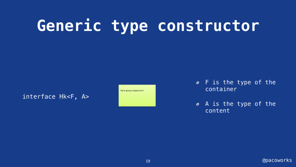 @pacoworks Generic type constructor interface H...