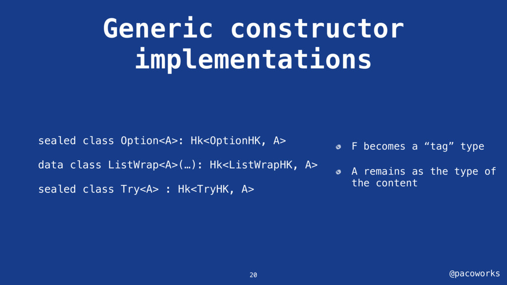 @pacoworks Generic constructor implementations ...