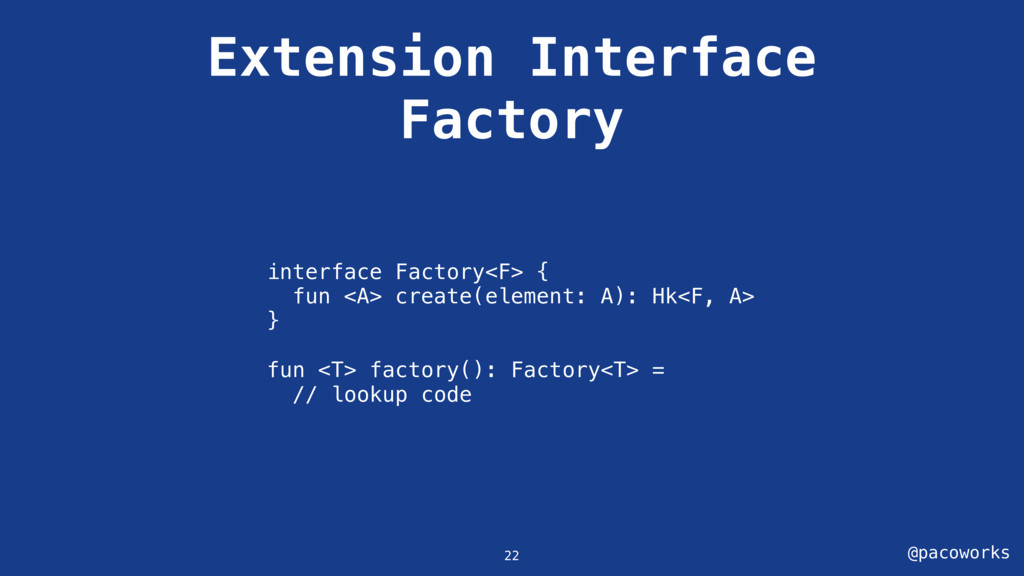 @pacoworks Extension Interface Factory interfac...