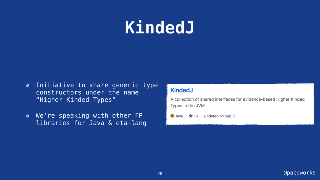 @pacoworks KindedJ 28 Initiative to share gener...