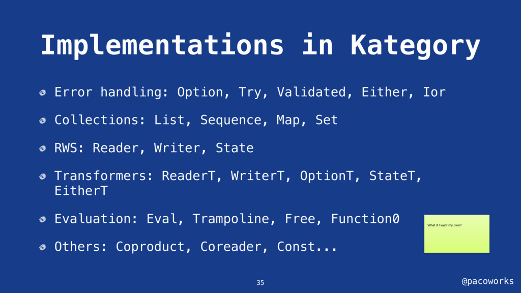 @pacoworks Implementations in Kategory Error ha...