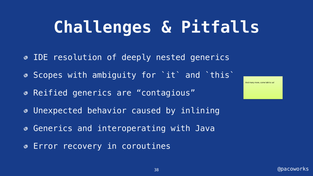 @pacoworks Challenges & Pitfalls IDE resolution...