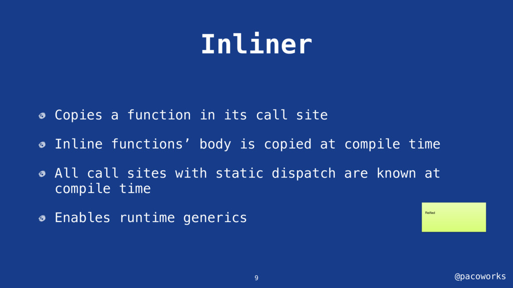@pacoworks Inliner Copies a function in its cal...