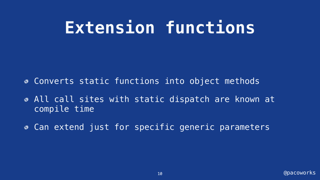 @pacoworks Extension functions Converts static ...
