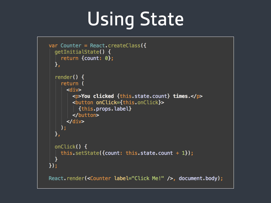 Using State