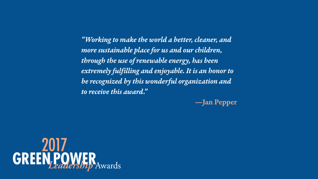 """Working to make the world a better, cleaner, a..."