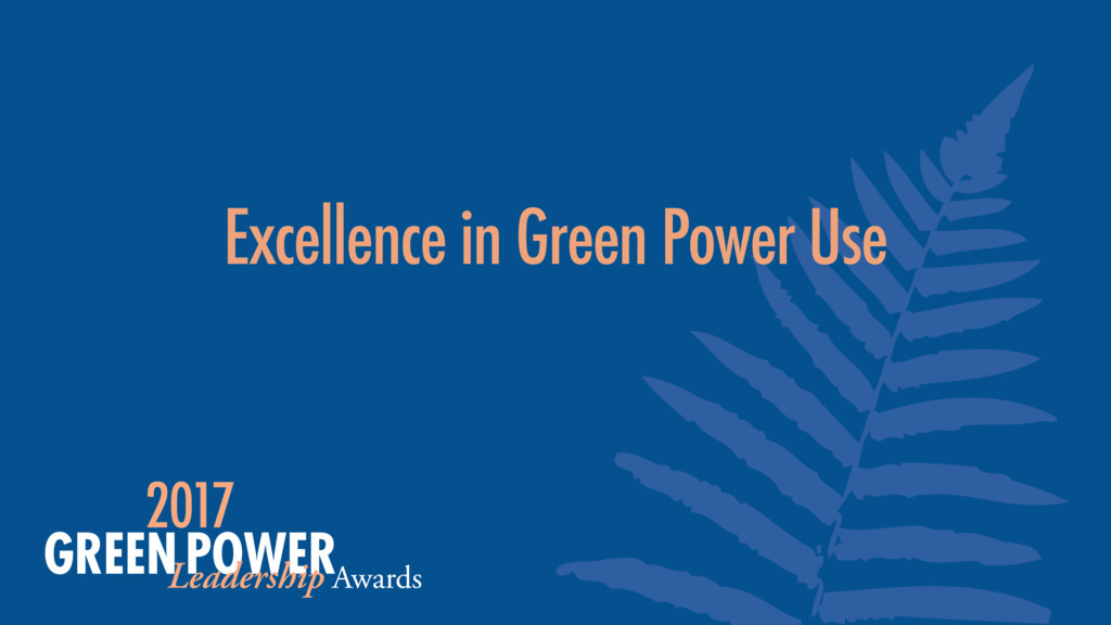 Excellence in Green Power Use