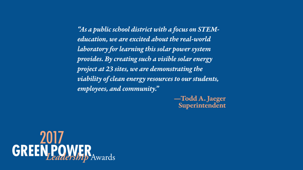 """As a public school district with a focus on ST..."