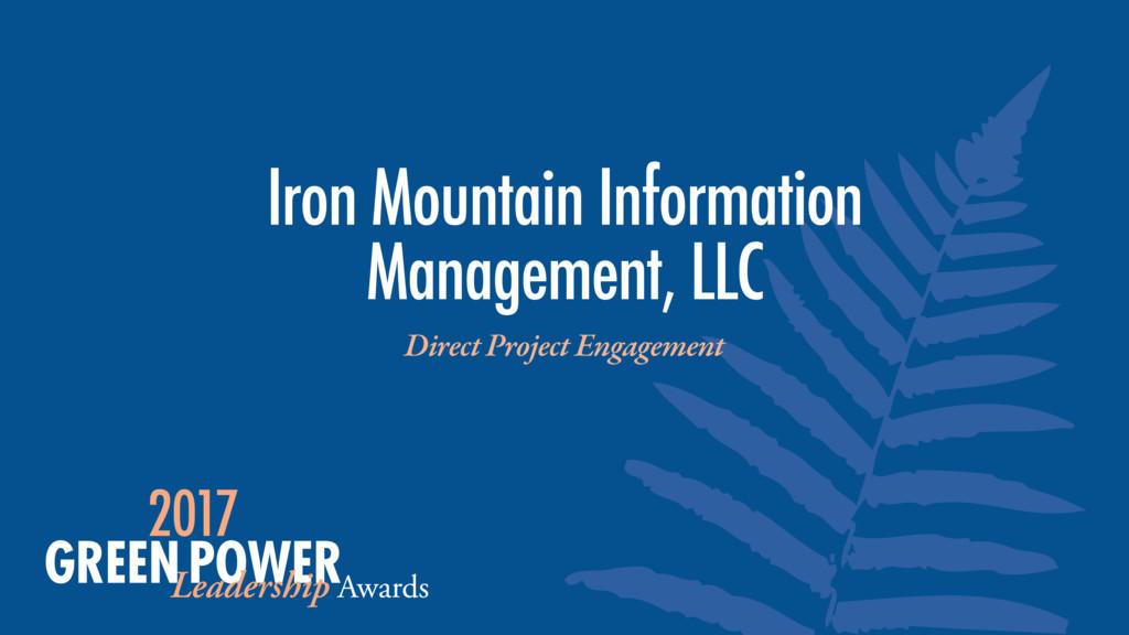 Iron Mountain Information Management, LLC Direc...