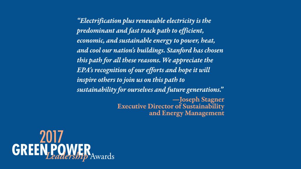 """""""Electrification plus renewable electricity is ..."""