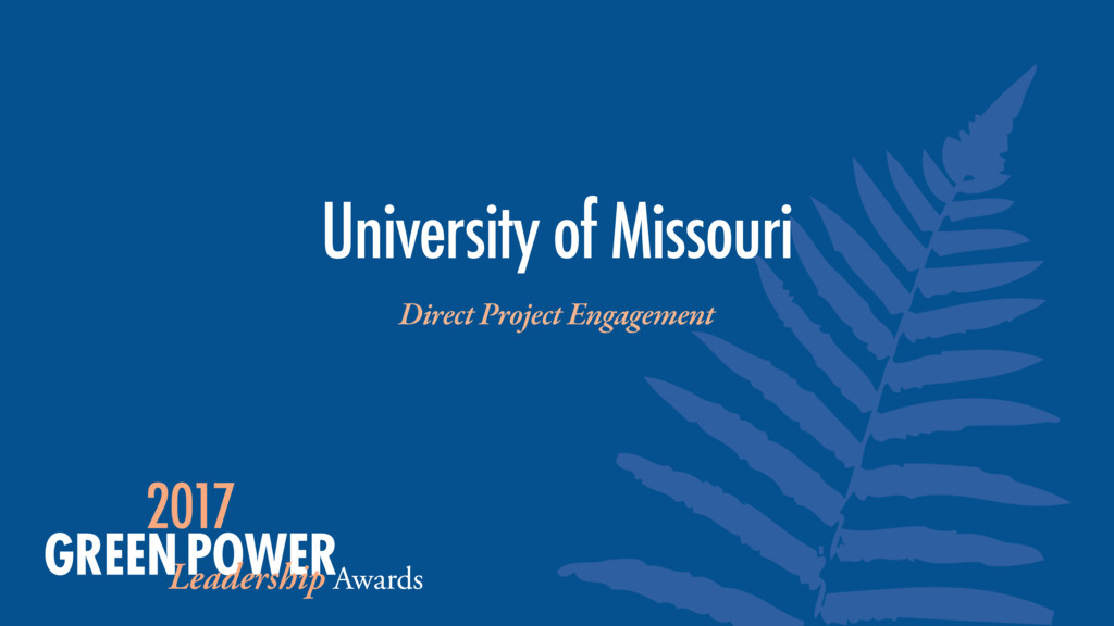 University of Missouri Direct Project Engagement