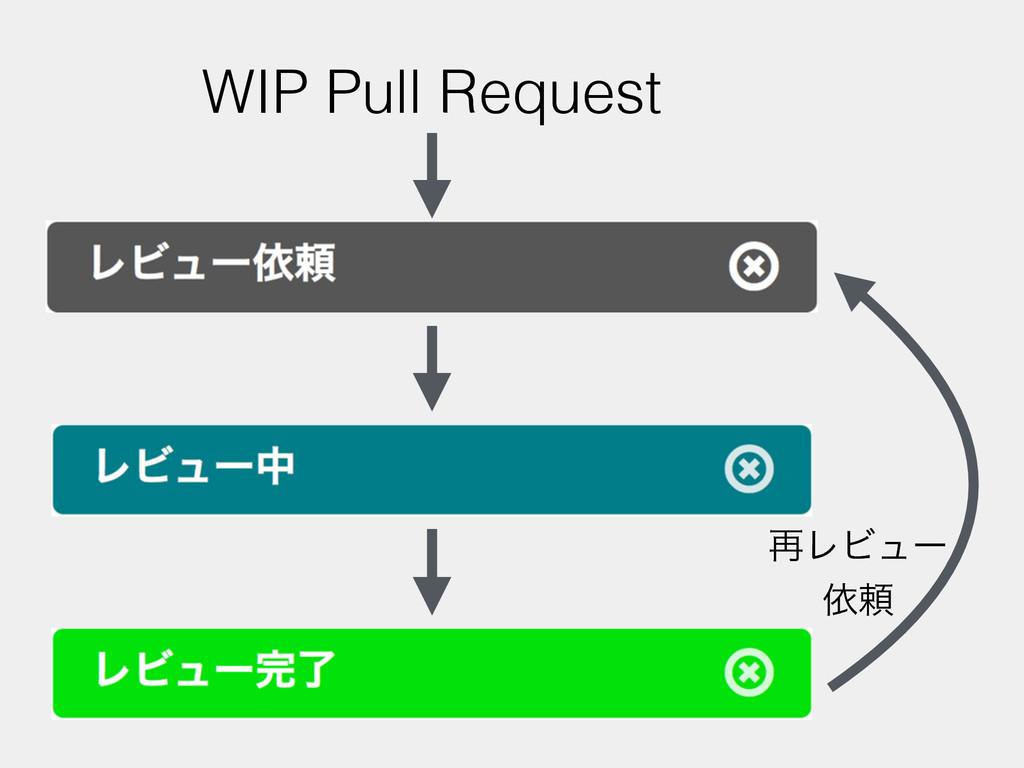 ࠶ϨϏϡʔ ґཔ WIP Pull Request