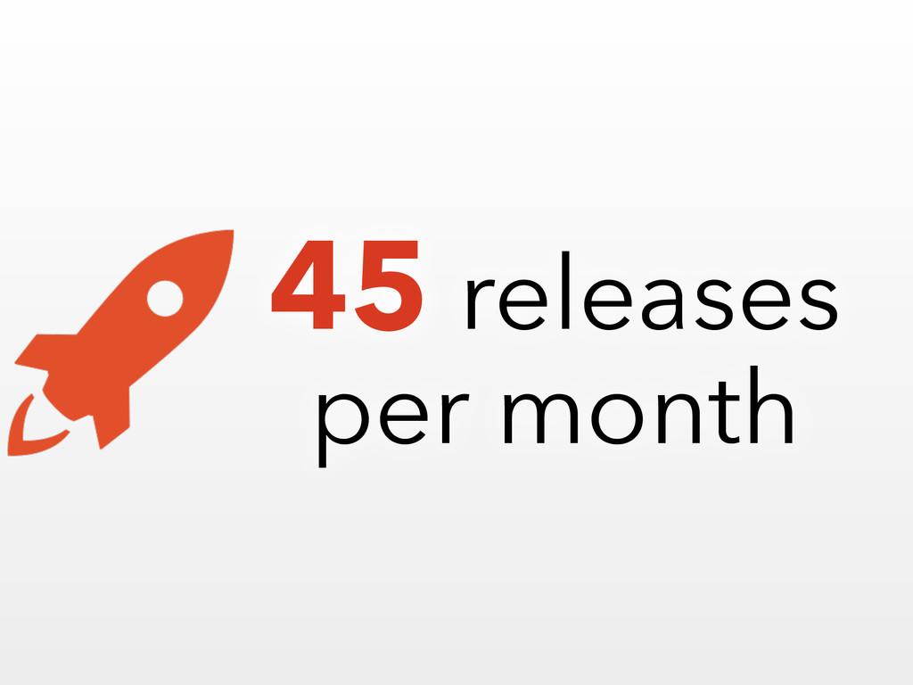 45 releases per month