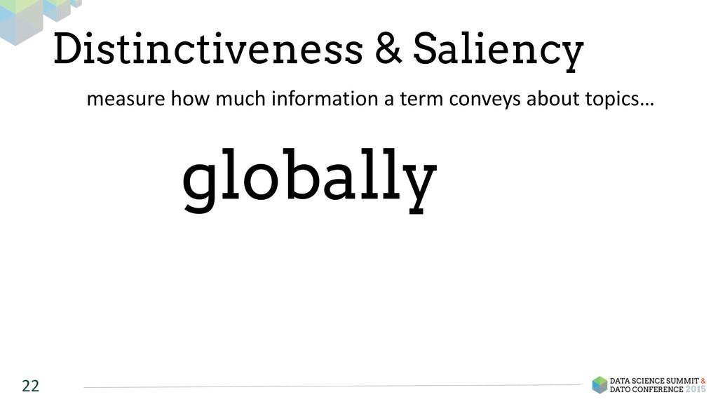 Distinctiveness & Saliency 22 measure how ...