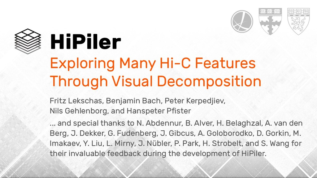 HiPiler Exploring Many Hi-C Features Through Vi...