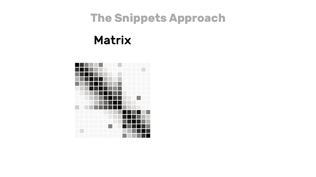 The Snippets Approach