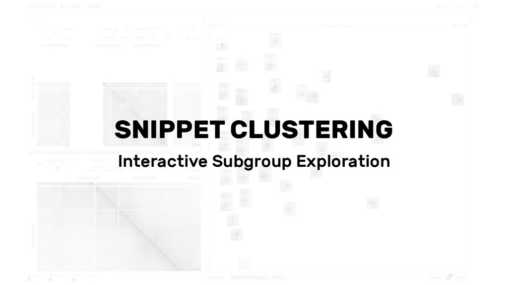 SNIPPET CLUSTERING Interactive Subgroup Explora...