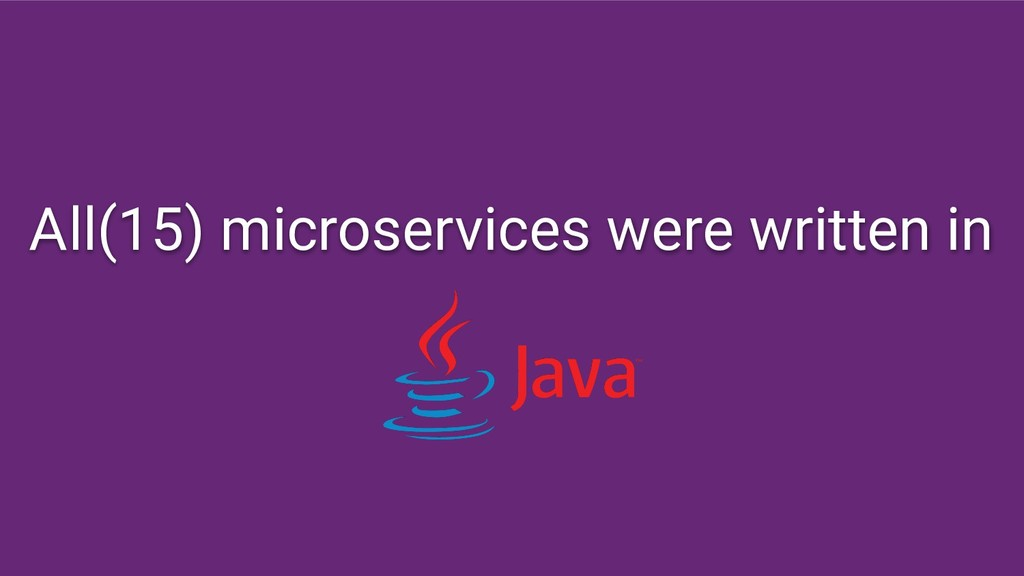 All(15) microservices were written in