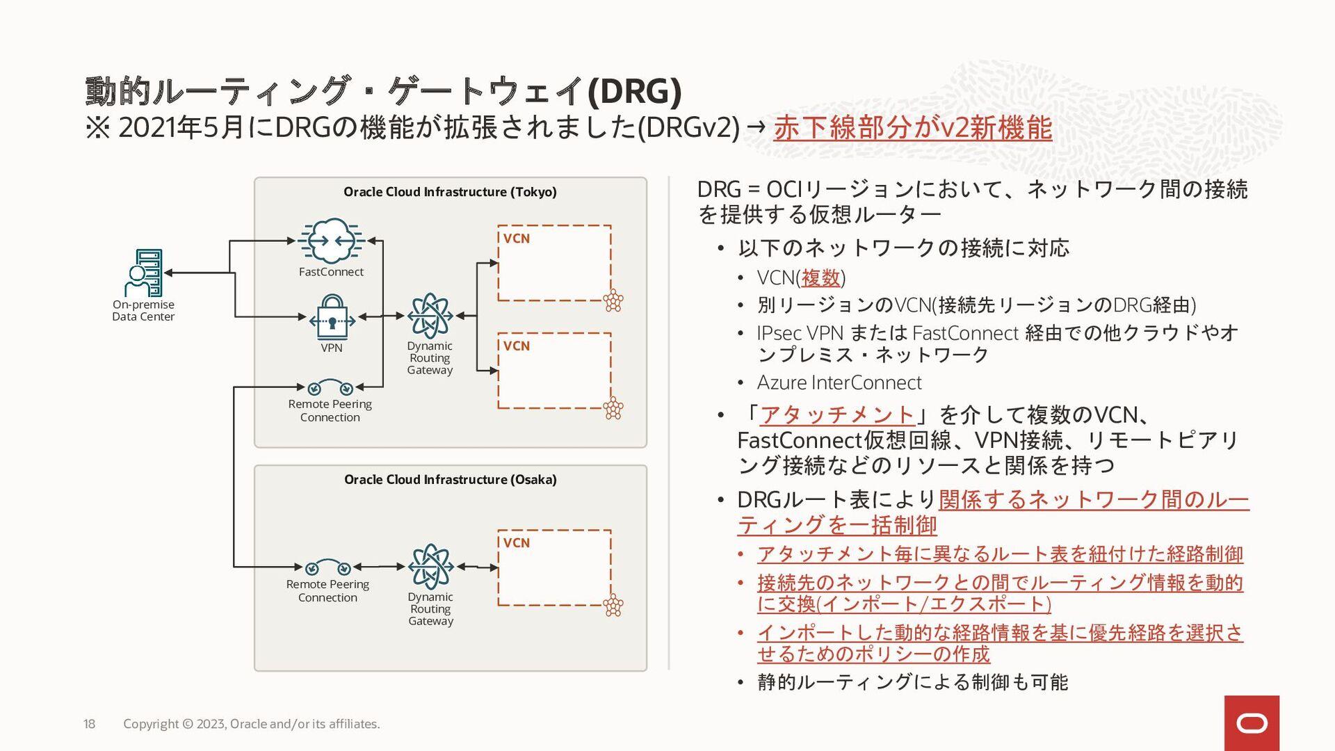 VCN 10.0.0.0/16 B 10.0.2.0/24 VCN OCI • • OCI •...