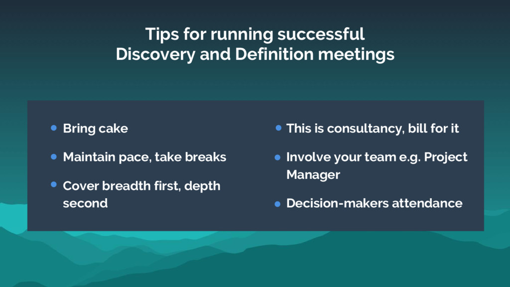 Tips for running successful Discovery and Defin...