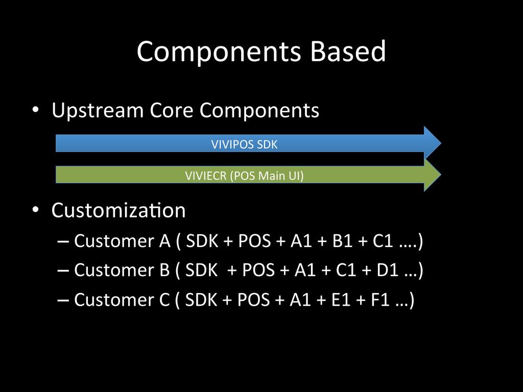 Components Based • Upstream Core Com...