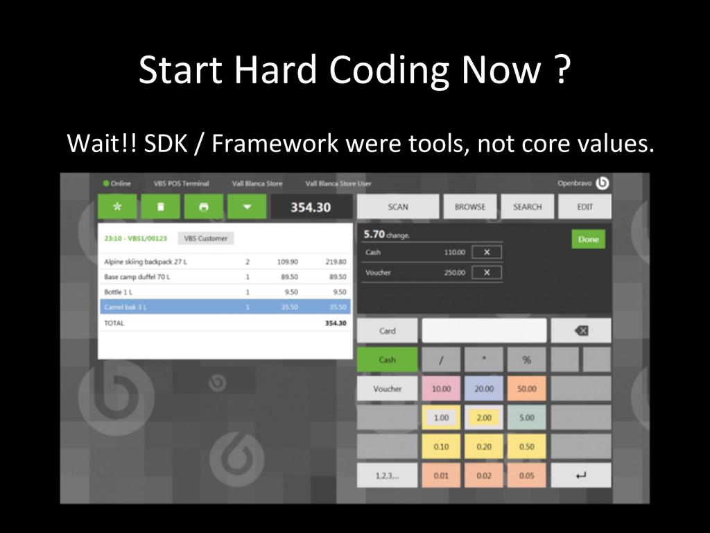 Start Hard Coding Now ? Wait!! ...