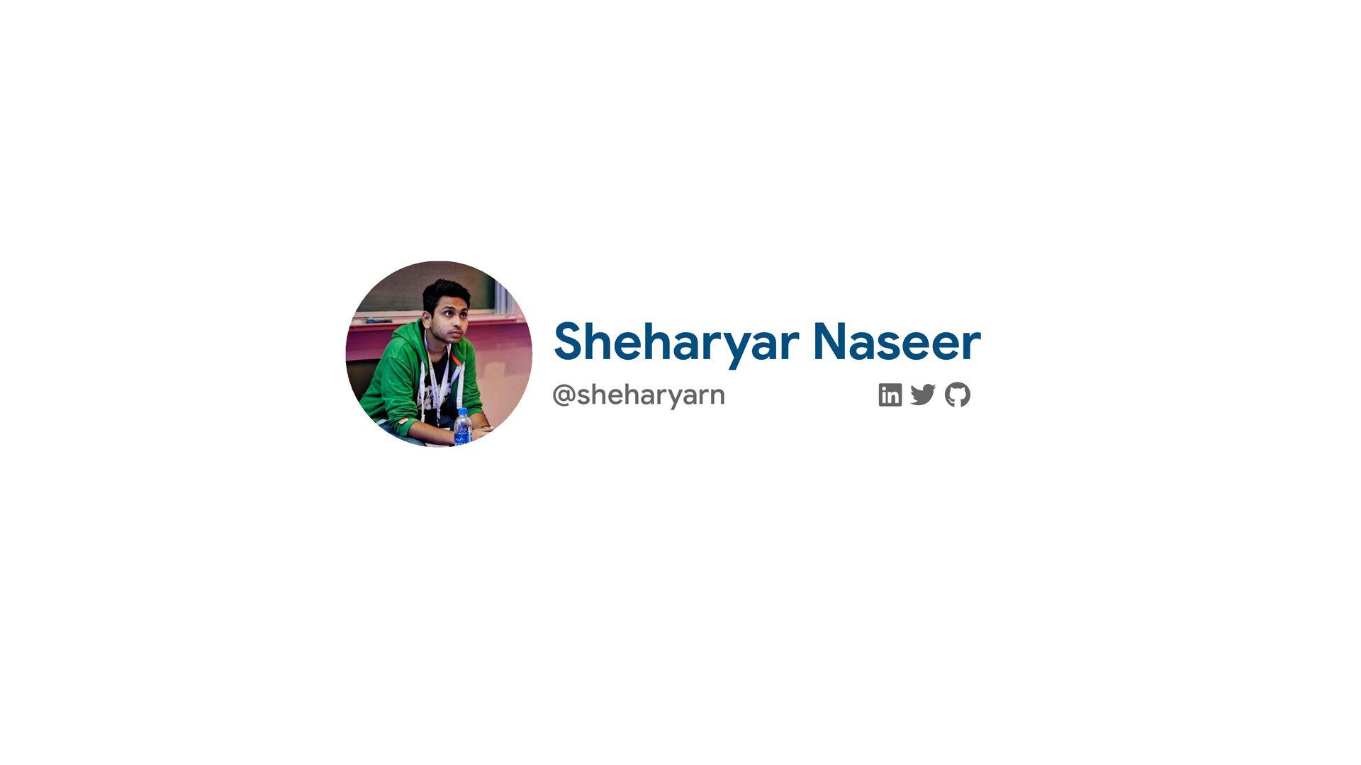 "@sheharyarn ! "" # Sheharyar Naseer"