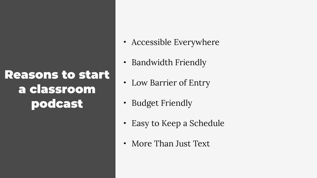 Reasons to start a classroom podcast • Accessib...