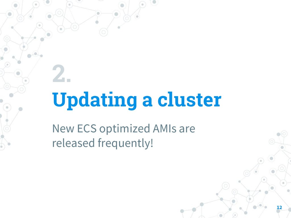 2. Updating a cluster New ECS optimized AMIs ar...
