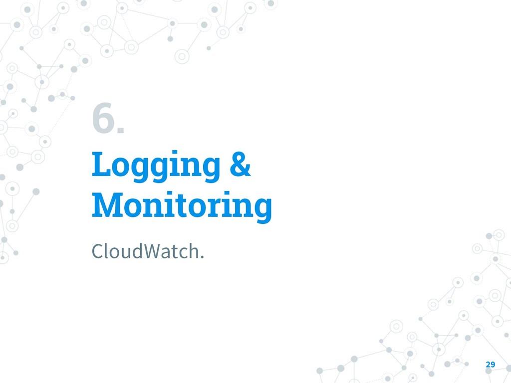 6. Logging & Monitoring CloudWatch. 29