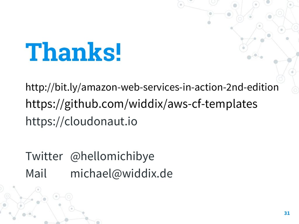 Thanks! http://bit.ly/amazon-web-services-in-ac...