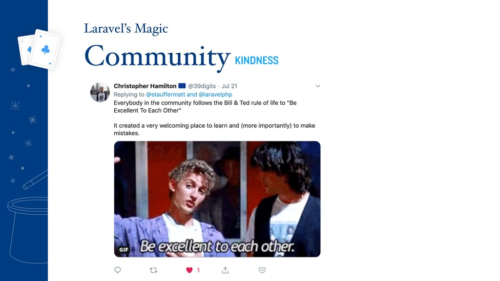 Community KINDNESS Laravel's Magic