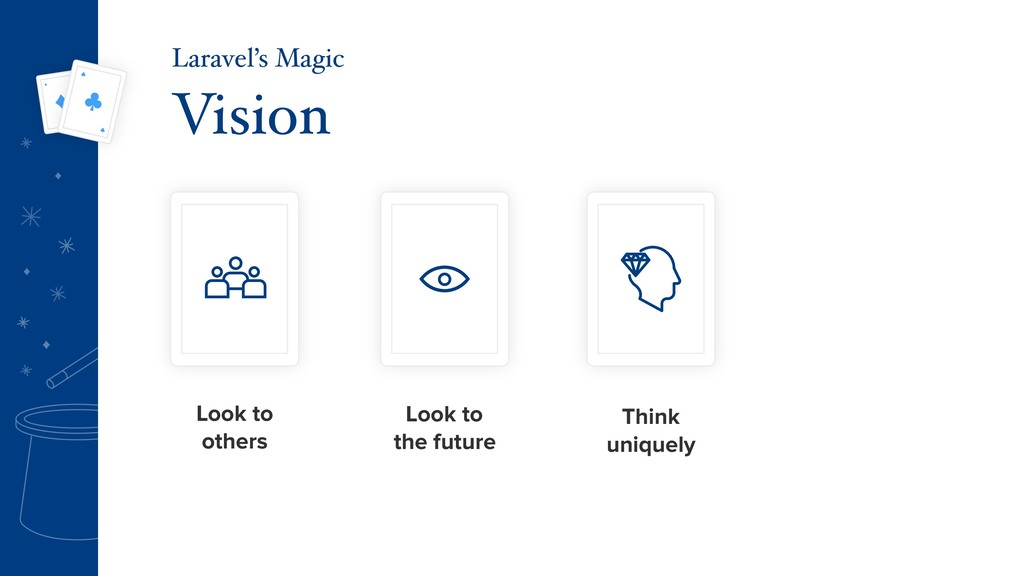 Vision Laravel's Magic Look to others Look to t...