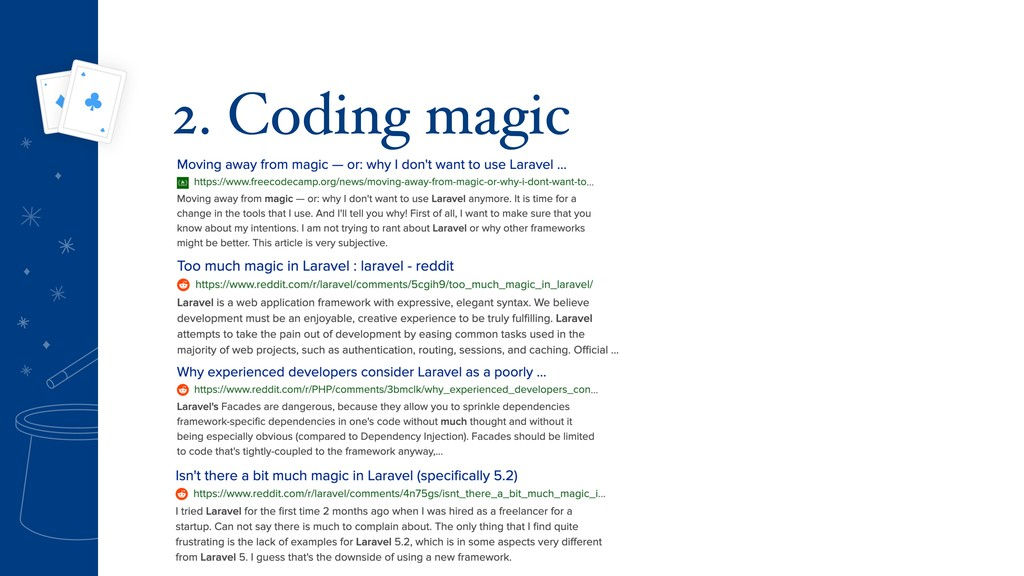 2. Coding magic