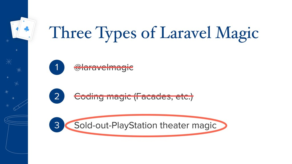 @laravelmagic Coding magic (Facades, etc.) Sold...