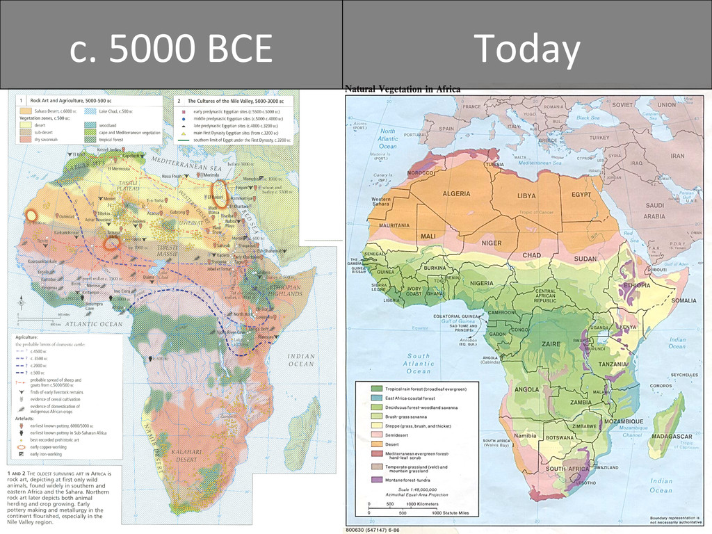c. 5000 BCE  Today