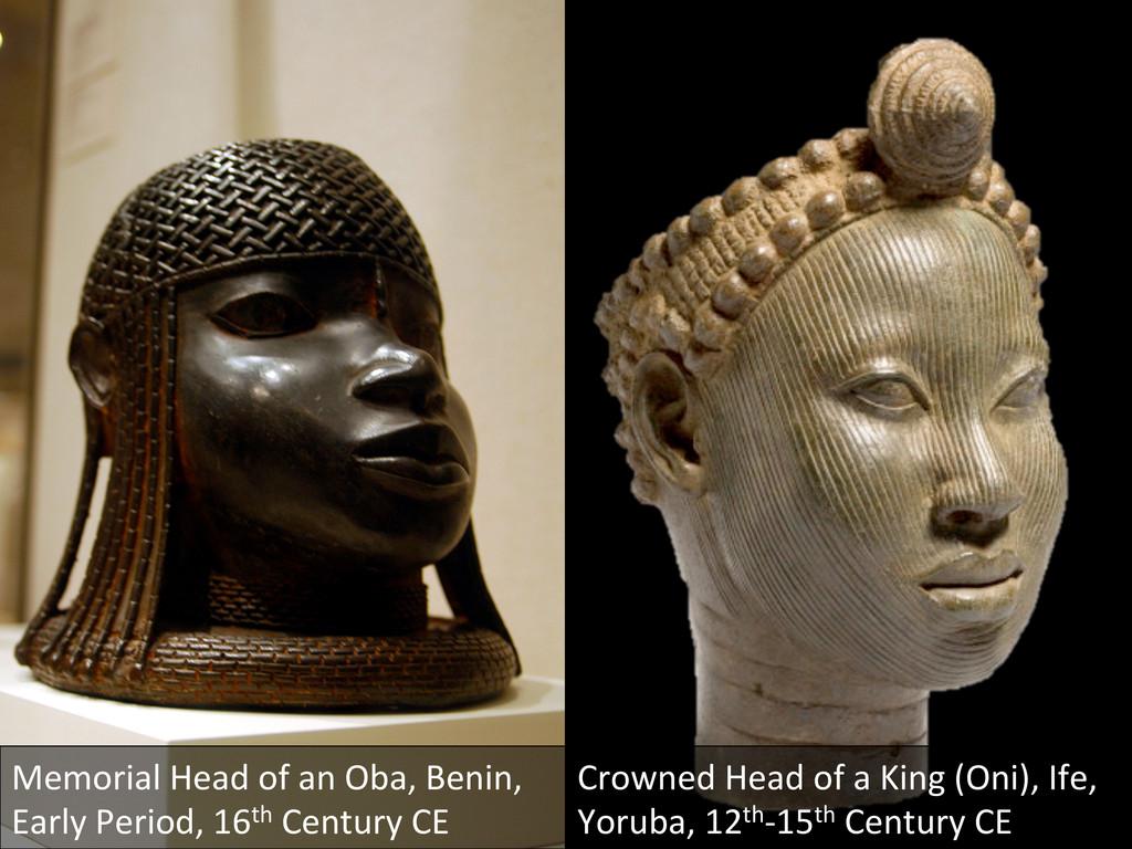 Memorial Head of an Oba, Benin,...