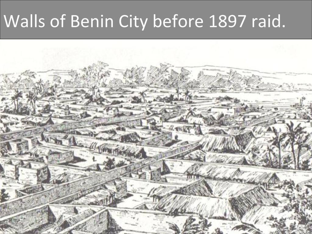 Walls of Benin City before 1897...