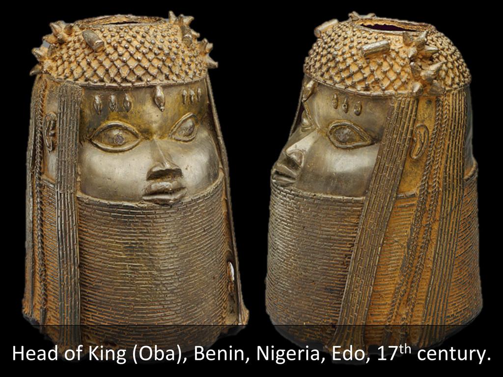 Head of King (Oba), Benin, Niger...