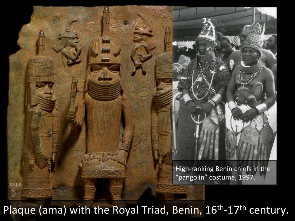 High-‐ranking Benin chiefs in the...